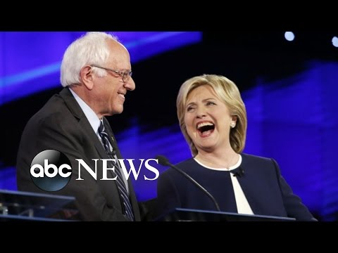 Democratic Debate for President: Hillary Clinton, Bernie Sanders at Center Stage