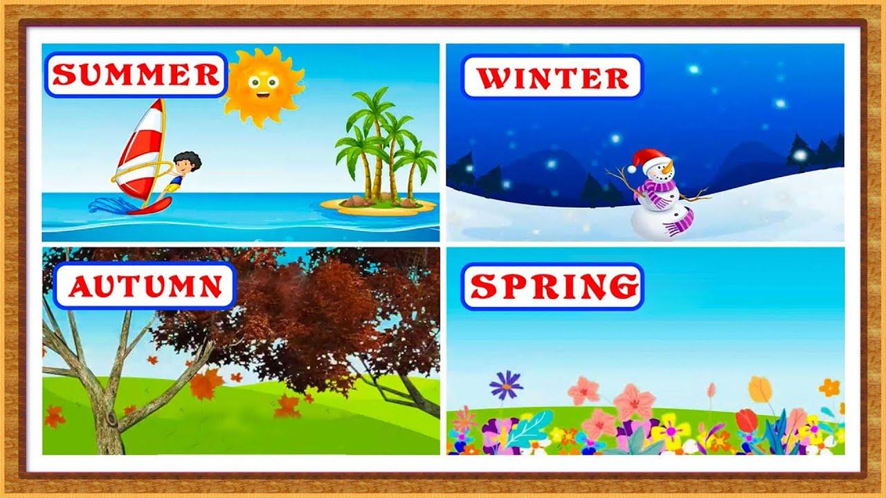 Kids Learning Videos | Four Seasons Name | Seasons Name For Kids