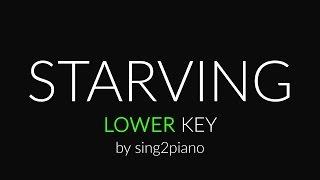 Starving (Lower Piano Karaoke) Hailee Steinfeld, Grey & Zedd