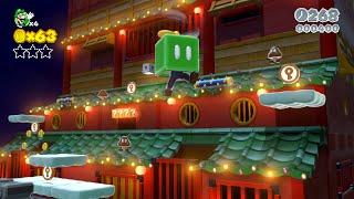 Super Mario 3D World: 6-3 Hands-On Hall (100 % All Stars & Stamp) [Gameplay Walkthrough]