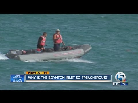 Why is the Boynton Inlet so treacherous?