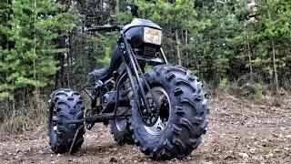 Полноприводный трицикл Васюган 3x3 3wd motorcycle(Подпишитесь на мой канал - http://bit.ly/Vasugan2x2WD-subscribe Трицикл с двигателем 157QMJ. Шины Шины Kenda ATV K299 Bear Claw 27x12x12 ..., 2016-05-15T04:44:55.000Z)