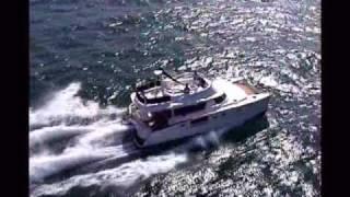 Cumberland 44 Power Cat at Sea