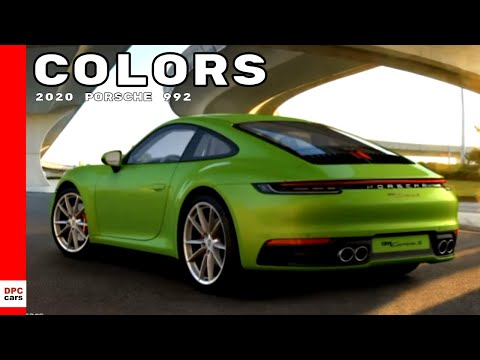 2020 Porsche 992 911 Carrera S Colors Youtube