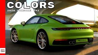 2020 Porsche 992 911 Carrera S Colors