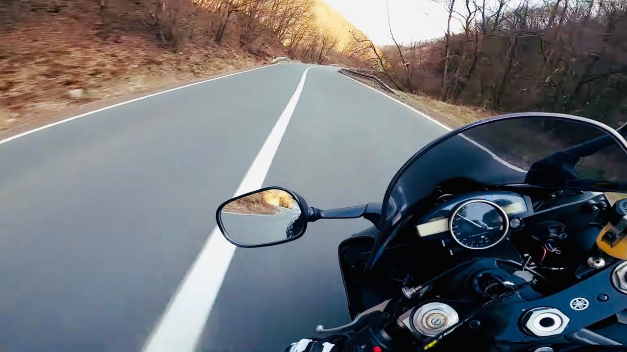 Enjoying my R6 on a twisty road! Early SPRING RIDE