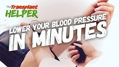How To Lower Your Blood Pressure In Minutes