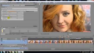 Обработка кожи лица в программе Sony Vegas