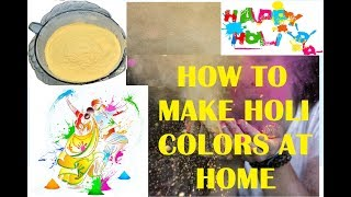 How to make Holi colors at home | Art by Heart - Komal Sommanek | Easy and ecofriendly DIY