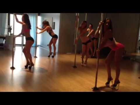 Advanced class at Pole Dance Academy
