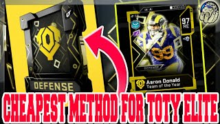 CHEAPEST METHOD TO MAKE TEAM OF YEAR ELITE PLAYERS! (TOTY Exchange Set) [Madden 20 Ultimate Team]