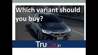 2017 HONDA CITY Variants Explain S, SV, V, VX, ZX IN हिन्दी   Trucar