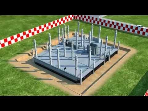 Строительство жилого дома 3D видео