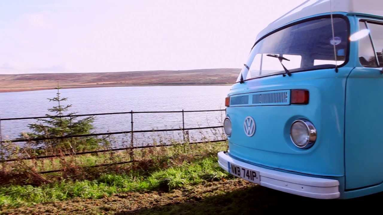 Film Footage Of Surf Blue 1976 Vw Hippie Camper Van Brand