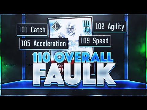 110 OVERALL LEGEND HOLY FAULK. (109 SPEED) - Madden Mobile 18