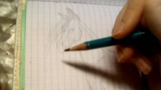 Как рисовать поэтапно коня с недоуздком