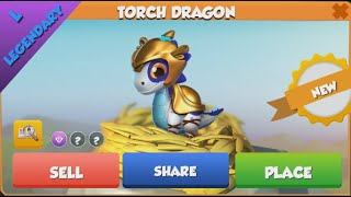 ❤ LEGENDARY TORCH dragon hatched. Dragon Mania Legends.