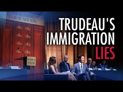 """Anti-Trump Trudeau spews """"typical BS"""" on immigration while in NY"""