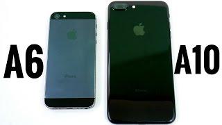iPhone 5 vs iPhone 7 Plus A6 vs A10