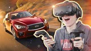 CAR COMMERCIAL IN VIRTUAL REALITY | Infiniti VR Experience (HTC Vive Gameplay)