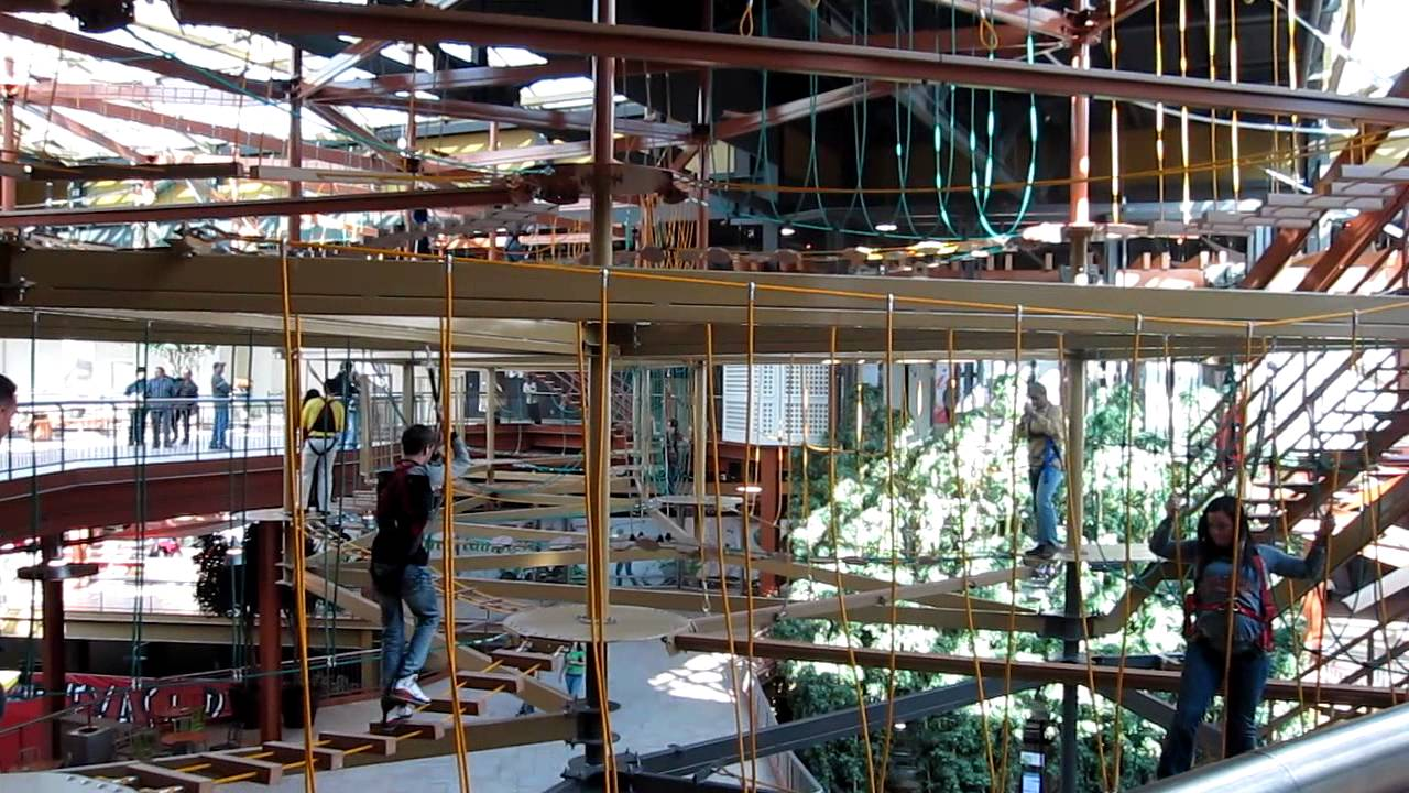 World S Largest Indoor Suspended Ropes Course Youtube