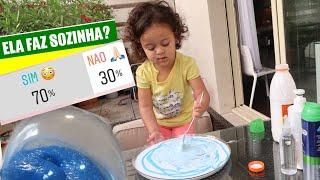 ELA FEZ SOZINHA? 😳ATIVIDADE PARA BEBÊ (SLIME GIGANTE A BASE DE ENQUETES DO INSTA) | RÊ ANDRADE