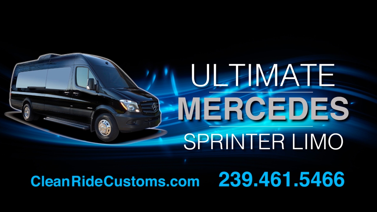 4bef78ec21 The Ultimate Sprinter Limo - by Clean Ride Customs - YouTube