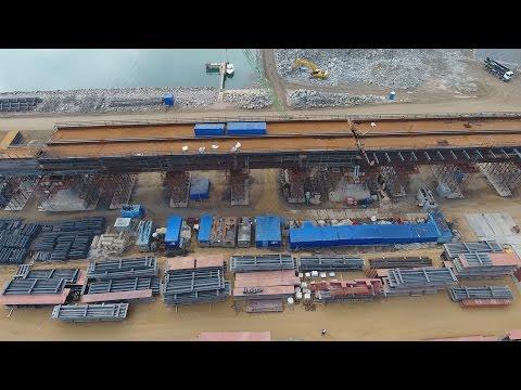 Крымскій мостъ 4К: Керченская стройка, желѣзнодорожная трасса