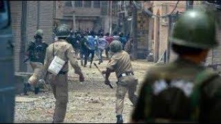 Clashes erupt in central Kashmir's Budgam district, 1 female student injured