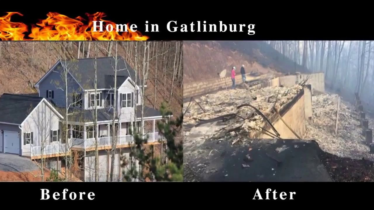 Gatlinburg Fire Before And After Fire Youtube