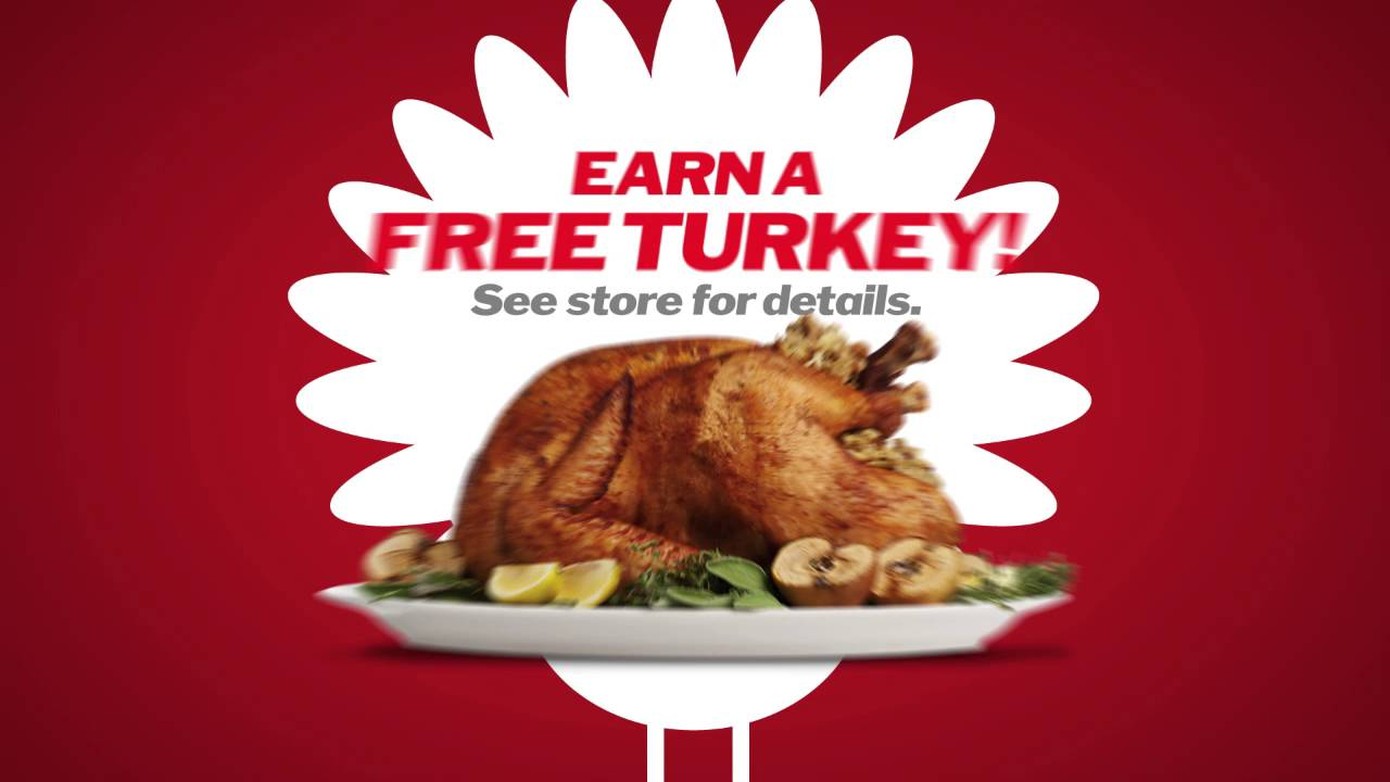 earn a free turkey at shop u0027n save youtube
