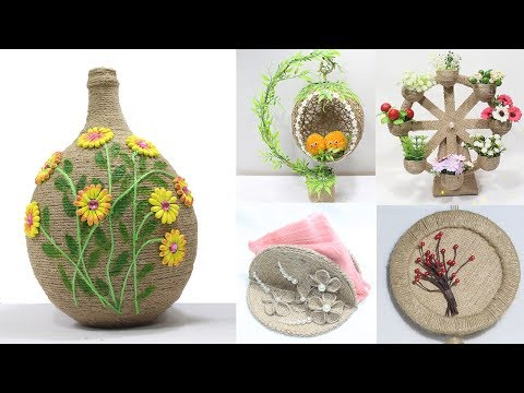 5 Jute craft ideas | Home decorating ideas handmade easy