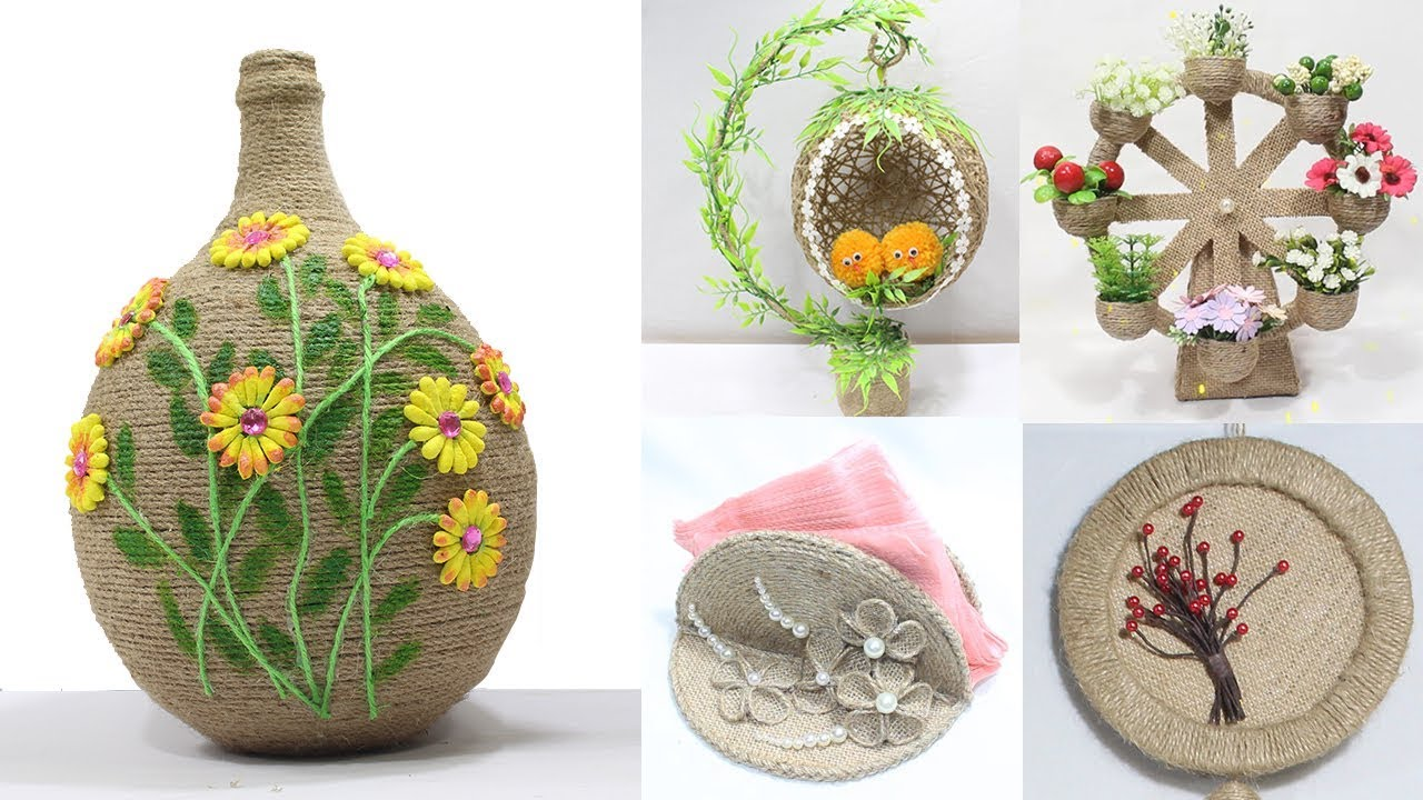 5 Jute Craft Ideas Home Decorating Ideas Handmade Easy