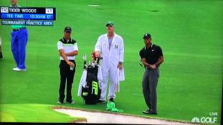Tiger Woods & Jason Day Short Game Practice (2015 Masters)