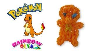 Покемон ЧАРМАНДЕР из резинок на рогатке | rainbow loom pokemon charmander