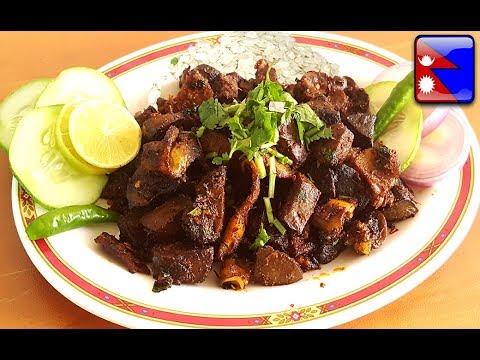"Super Tasty Khasi Ko Bhutan ""खसीको भुटन कसरी बनाउने?"": Fried Goat Liver and Stomach Recipe | Ep. 24"
