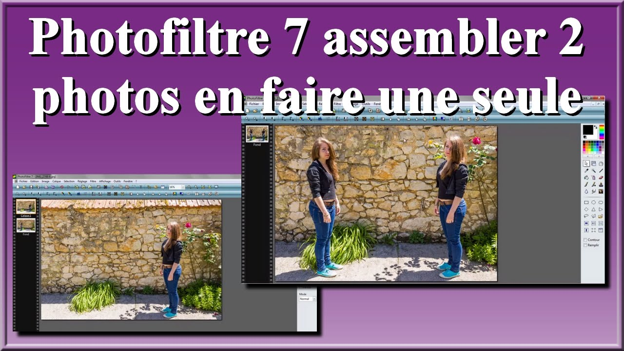 photofiltre 7 assembler 2 photos en faire une seule facilement et rapidement youtube. Black Bedroom Furniture Sets. Home Design Ideas