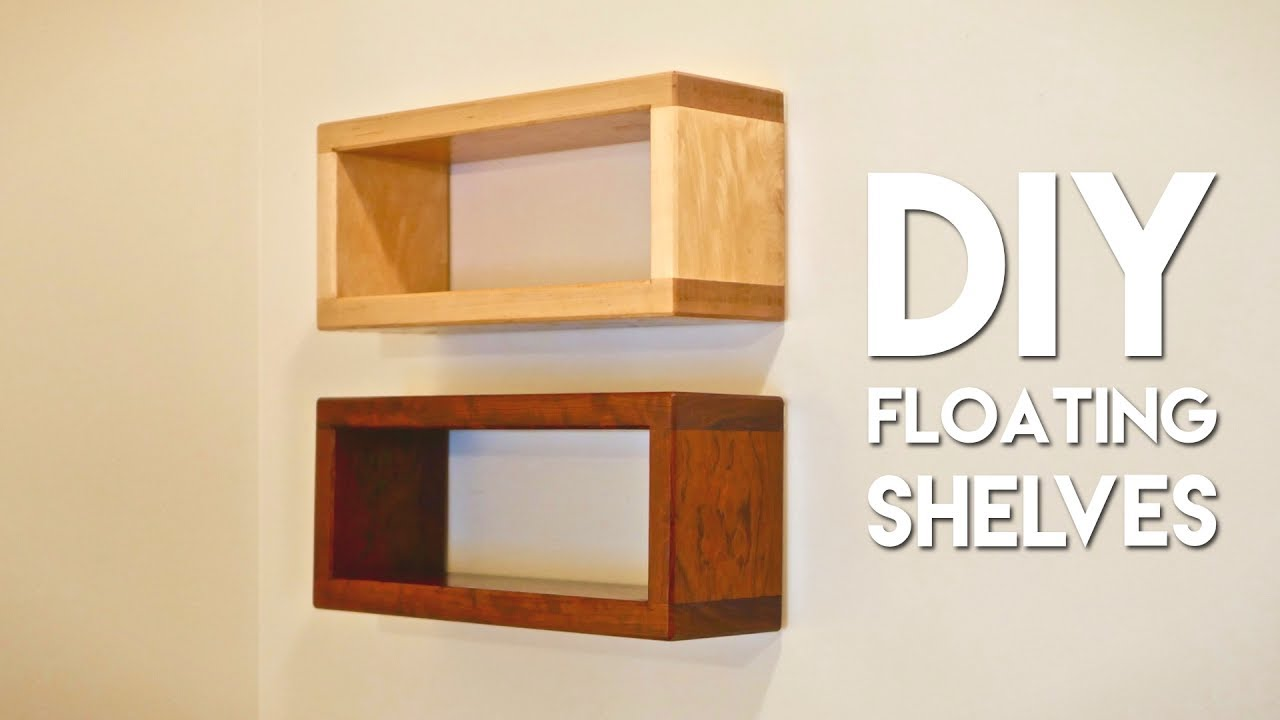 how to build diy floating shelf with invisible hardware youtube rh youtube com