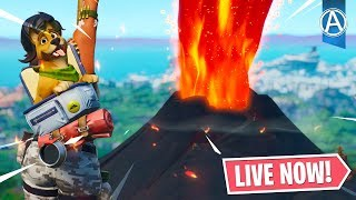 """NEW """"VOLCANO EVENT"""" COUNTDOWN! LOOT LAKE NEXUS Opening LIVE! (Fortnite Battle Royale LIVE)"""