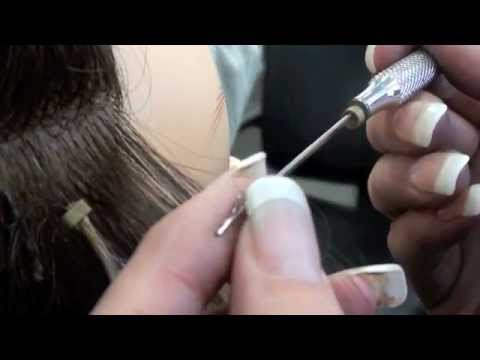 Hair Extensions With Micro Links Cylinder Beads Youtube