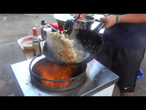 BENIHANA'S CHICKEN FRIED RICE Recipe   Unedited Wok Fried Rice Stir-Fry Cooking   Wok With Me