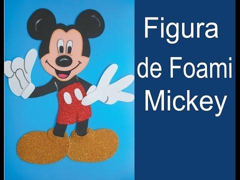 Mickey Mouse Hecho Con Foamy O Goma Eva By Manualidades Yonaimy
