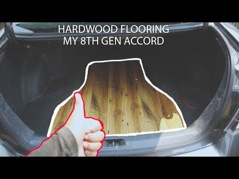 CUSTOM HARDWOOD TRUNK FLOOR! for my 8th gen honda accord