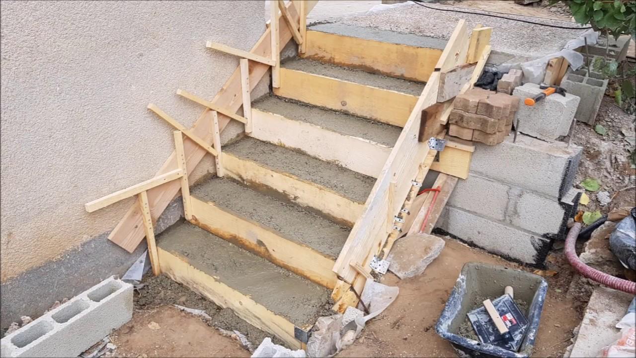 Faire Un Escalier En Beton Youtube