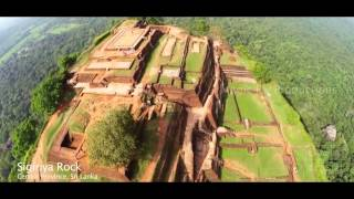 Aerial view of Sri Lanka
