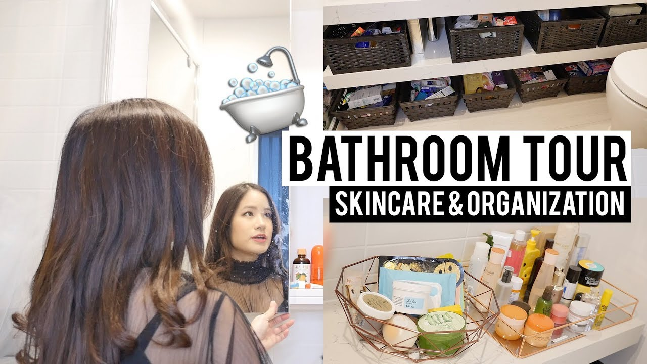 SKINCARE COLLECTION! What's in my Shower/Bathroom 🛀🏻