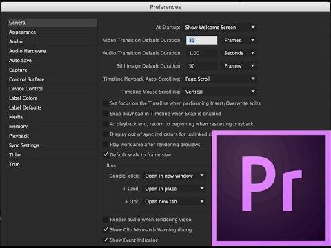 Episode 1 - Setting up a Project - Adobe Premiere Pro CC 2015