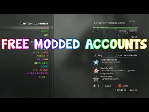 FREE Modded Accounts for BO2, MW3, an MW2 (PS3/XBOX)