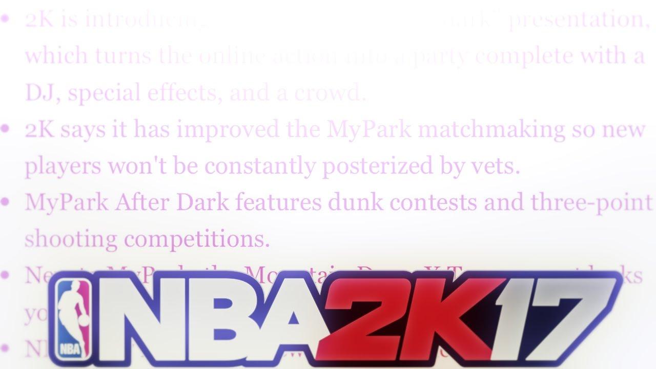 Jun 2017. NBA 2K17. All Discussions.