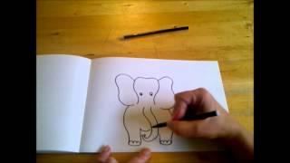 КАК НАРИСОВАТЬ МУЛЬТЯШНОГО СЛОНА (очень просто, для начинающих и для детей)(Здравствуйте! Предлагаю вашему вниманию видеоролик, где я показываю, как очень просто нарисовать смешного..., 2014-10-15T05:29:15.000Z)